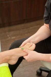 Inspectie van de voet